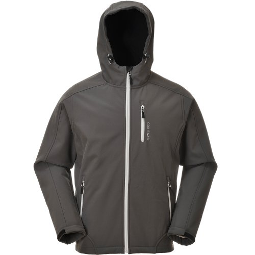 Cox Swain Herren 3-Lagen Hi-TEC Softshell Jacke Torro - 10.000mm Wassersäule - 2.000mm atmungsaktiv, Colour: Grey/Light Grey Zipper, Size: S