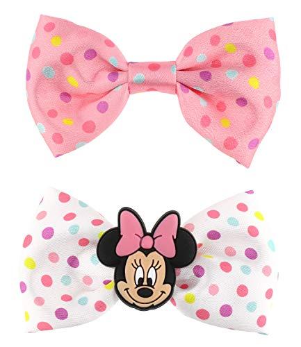 SIX Kids kleine Haarspangen im Set mit Minnie Mouse, Gepunktete Schleifen (304-983)