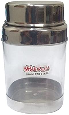 Navisha Globus Stainless Steel & Glass Accarlic Canister 1500ML