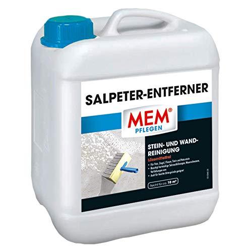 MEM Salpenter Entferner - 5 L - lössemittelfreier Reiniger zur entfernung von Mauersalzen, Mauerschawmm, hartnäckigen Verschmutzungen - Stein und Wandreiniger - 30836112