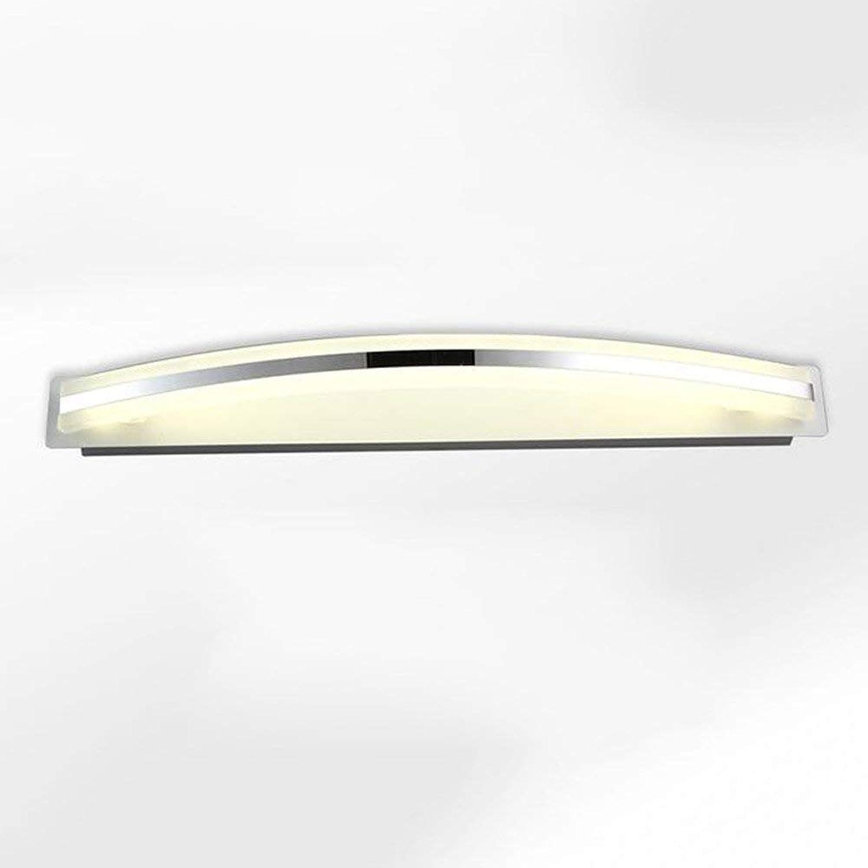 BAIJJ Anti-Korrosions-Anti-Rost-Spiegel Frontleuchte - Bad LED-Spiegel Frontleuchten Moderne Farbe Acryl WC Wand einfache Badezimmer antistatische LED-Spiegel Schrank Licht (45cm-9W, 58cm-12W, 72c
