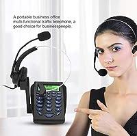 交通電話、電話ダイヤルパッドコールセンター、ヘッドセット付きコード付き電話コールセンター電話、ハウスコールセンターオフィス用