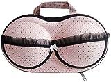 Pink Bra Underwear Storage Bag, Portable Travel Home Organizer Zip Bag Case for Bra Sizes 30A-36C Cups Women Girls