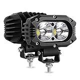 Autofeel LED pods Light 2PCS 4 Inch 80W Spot Light Bars Single Row 8000LM Off Road Driving Fog Light for Truck SUV Boat