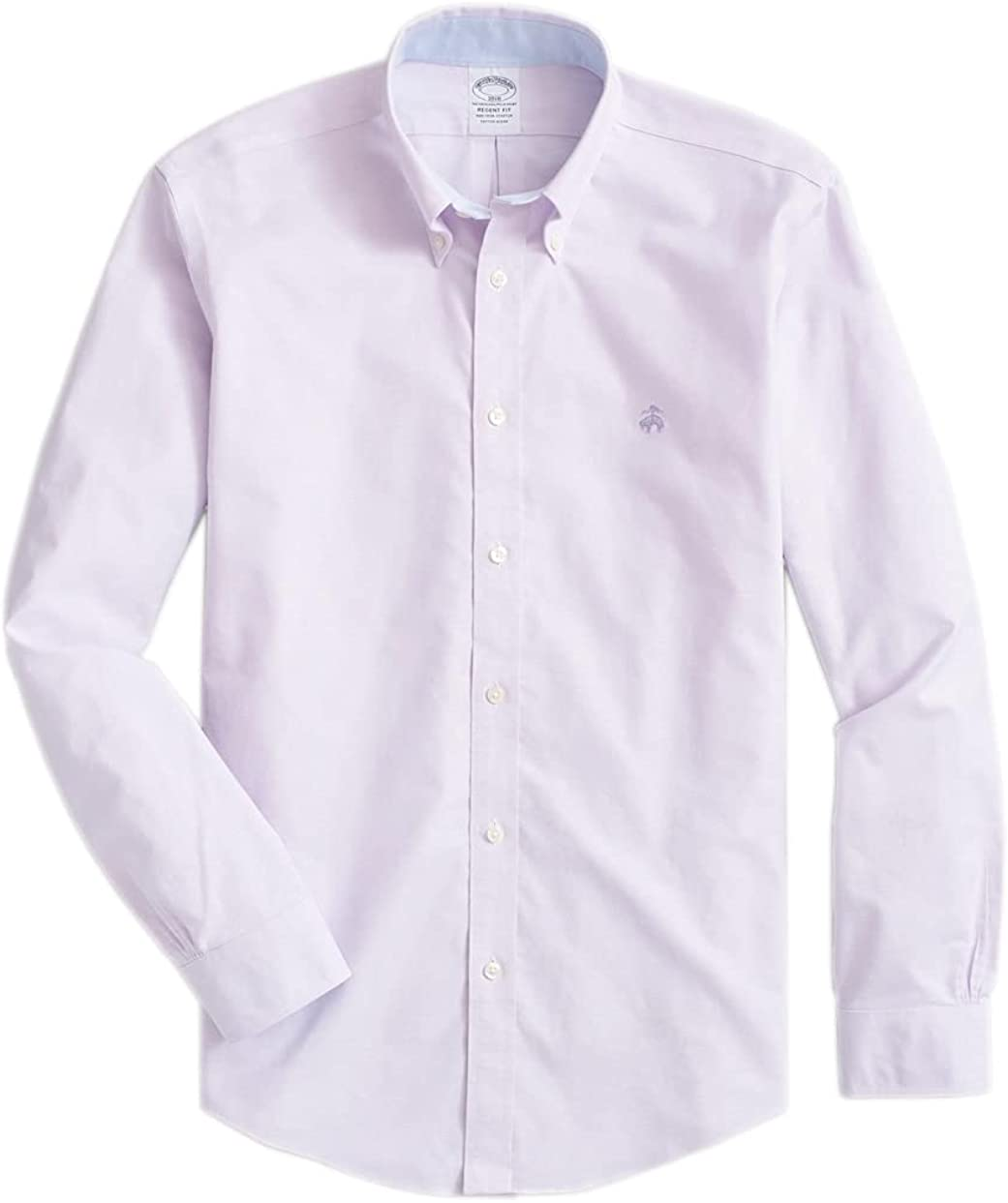Brooks Brothers Men's Regent Fit The Original Polo Non Iron Oxford Shirt Contrast Collar
