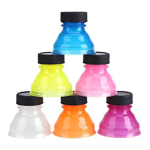 6pcs Tapas de lata de refresco transparente, tapas superiores de lata Tapa de botella reutilizable puede cubrir para tapa de bebida de refresco fresco