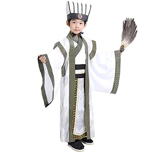 Affordable FXNN Hanfu – The Romance of The Three Kingdoms, The Prime Minister, Zhuge Liang, Hanfu Clothing (Color : Green, Size : M)