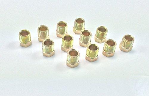 Pack of 5 3//16 AAS Inverted Flare Metric Thread Brake Line Nut 7800