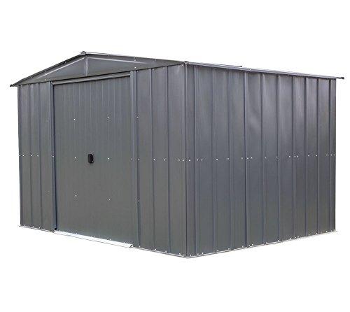 Spacemaker Metallgerätehaus Gartenhaus aus Metall 10x8 grau 313x242 cm Schuppen Gerätehaus