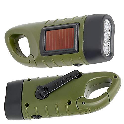 WXJWPZ Linterna LED portátil Mano de la manivela Dynamo Torch Linterna Profesional Power Power Tent Light para al Aire Libre Camping Montañismo