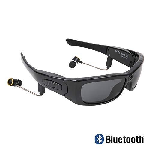 Produktbild von LIGHTOP Bluetoothe Kamera Brille UV400 Stereo Bluetooth Headset Kopfhörer Cam polarisierte Sonnenbrille mit Kamera Weitwinkel 120 Grad für Radfahren Motorad Bike