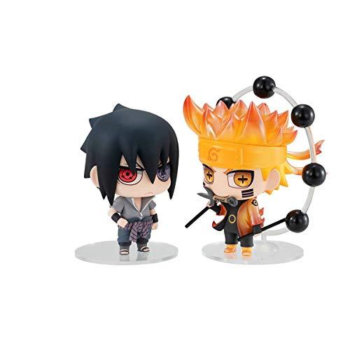 Megahouse Pack 2 Figuras Naruto & Sasuke 7 cm. Naruto. Chimimega Buddy Series