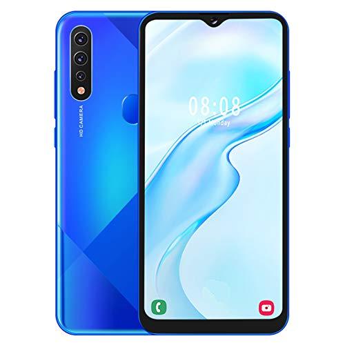 Mobile Phone MIQOO A81 Blue Metal 6,7-Zoll-Drop-Screen-Fingerabdruck Gesicht Entsperren Sie Zwei Karten Dual-Standby-Smartphone 6 + 64G Mit 128G-Speicherkarte 100-240VEU-Stecker