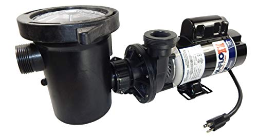 Waterway Plastics PH2200-6 2 hp 2-Speed 3450/1725 RPM, 115V Above Ground Pool Pump with Large Debris