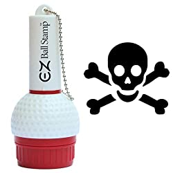 skull and cross bones golf ball stamp