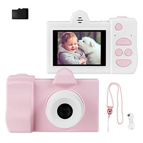COSTWAY 18MP/720P HD Kinderkamera mit Schutzhülle, 2 Zoll Farbdisplay Kinder Digitalkamera, Videokamera für Kinder von 3-10 Jahren, inkl. Trageband, 16GB-Speicherkarte