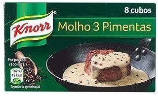 Knorr 3 Peppercorn Steak Sauce Mix 8 Peppercorn Stock Cubes Pink Peppercorn, Black Peppercorn Green Peppercorn