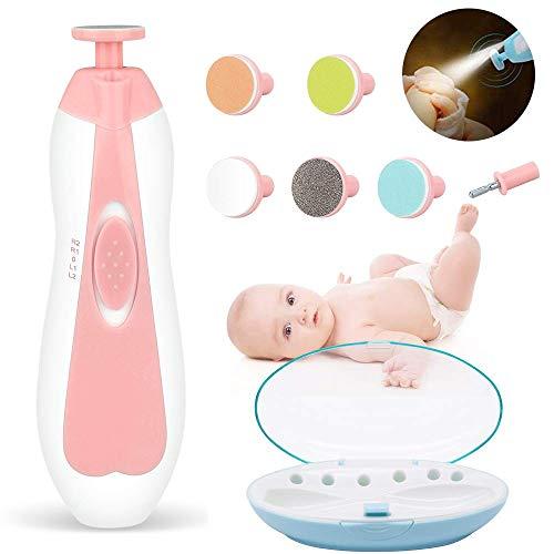MQSS Baby Nagel Clippers met Licht, Veilig Baby Nagel Bestand, Elektrische Nagel Trimmer File Manicure Set, Tenen Vingernagels Zorg Trimmer voor Pasgeboren, Kinderen en Volwassenen