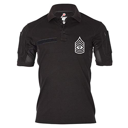 Copytec Tactical Poloshirt Alfa - First Sergeant U.S Air Force Dienstgrad Amerika Offizier Emblem #19040, Größe:XXL, Farbe:Schwarz