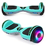 "SISIGAD Hoverboard 6.5"" Self Balancing Scooter with Colorful LED Wheels Lights Two-Wheels self Balancing Hoverboard Dual Motors Hover Board"