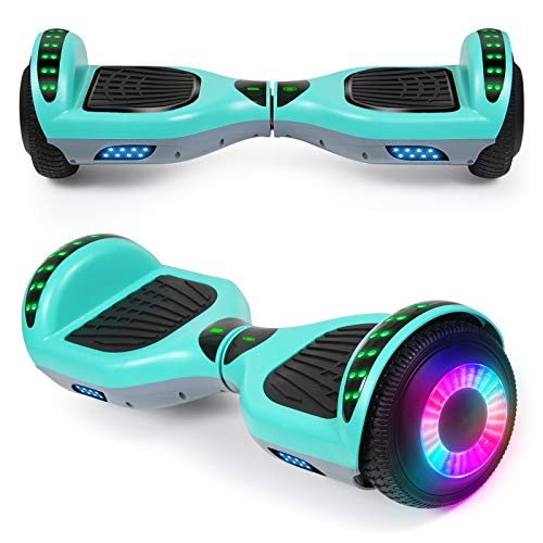 SISIGAD Hoverboard for Kids ages 6-12, with Built-in Bluetooth Speaker and 6.5' Colorful Lights Wheels, Safety Certified Self Balancing Scooter Gift for Kids