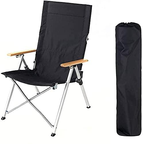 Sillas de Camping Portátiles, Sillas de camping portátil, silla de camping portátil, silla de pesca al aire libre compacta, capacidad de 140 kg de trabajo pesado, con bolsa de transporte, for mochiler