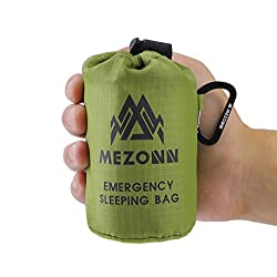 Mezonn Emergency Sleeping Bag Survival Bivy Sack Use as Emergency...