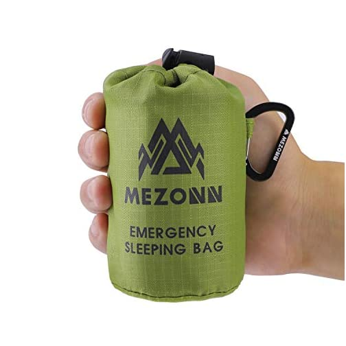 Mezonn Emergency Sleeping Bag Survival Bivy Sack Use as Emergency Blanket Lightweight Survival Gear for Outdoor Hiking… 3