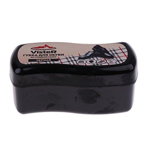 Brillo de Zapatos Herramienta De Limpieza De Polvo Esponja Fácil de Limpiar Negro