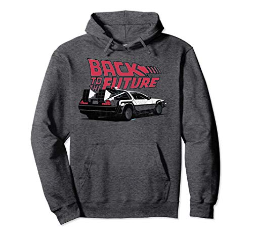 Back To the Future DeLorean Hoodie, Dark or Light Gray, Unisex S to 2XL