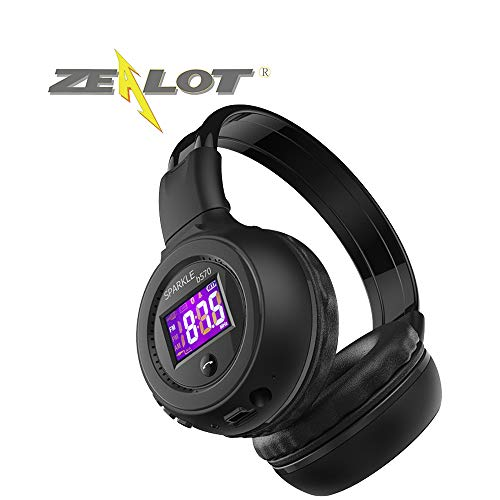 Zealot Wireless Bluetooth Headphones B570 Casque Over Ear Stereo TF Card16GB FMradio NoiseCancelling FoldableDesign AudioCable ColourDisplay