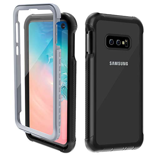 OTBBA Samsung Galaxy S10e Case,Full-Body Rugged Case with Built-in Screen Protector Heavy Duty Protection for Galaxy S10e (2019) 5.8 inch - Clear