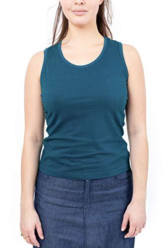 FANTAZIA American Boho Chic - Camiseta de tirantes (talla S a XXXL), color verde, Azul Verde Pato, XXL