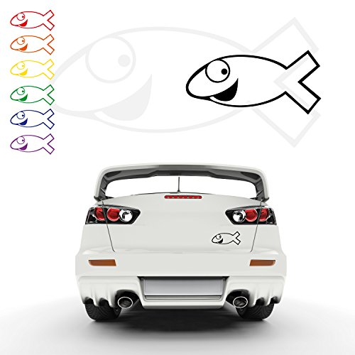 Comic Ichthy Christusfisch Autoaufkleber Fisch Ichthys Jesus Aufkleber Sticker Fische | A00060