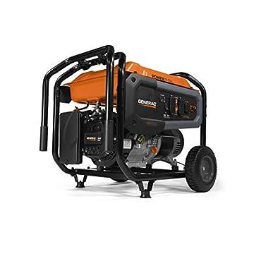 Generac 7690 GP6500 Portable Generator 6500 Watt, Orange, Black