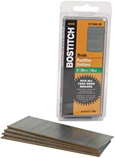 BOSTITCH 18 Gauge Brad Nails, 2-Inch, Coated, 1000 per Box (BT1350B-1M)