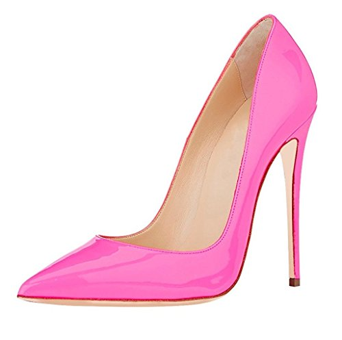 Soireelady Damen High Heels,Cute Stiletto Schuhe,Spitze Zehe Elegant Pumps Pink Große 44