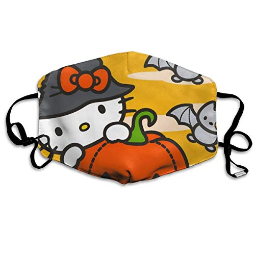Hello Kitty Cartoon Happy Halloween Cubierta facial Exterior A prueba de viento A prueba de polvo Sin costura Repetible Lavable Gancho ajustable