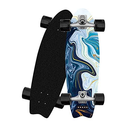 Carver Surfskate Cruiser Principiantes y Profesionales Skateboard Deck para Niñas Niños Adolescentes Adultos Completa Pumpping Patinetas 81x25cm Monopatin Cóncavo de Arce Doble de 8 Capa Longboard