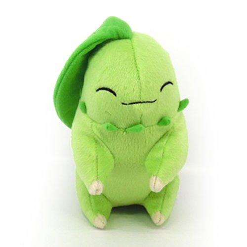 TOMY Pokémon T19285L Schlafender Chikorita Plüsch, 20 cm |Hochwertiges Plüsch|ab 3 Jahren