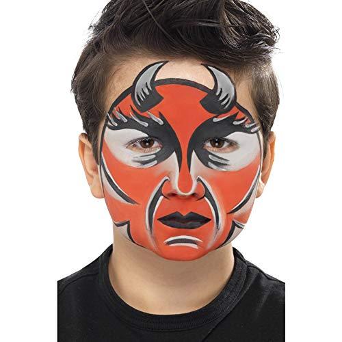 Smiffys Kit body paint e viso Halloweenpallet, 8 colori con spugna e pennello applicator