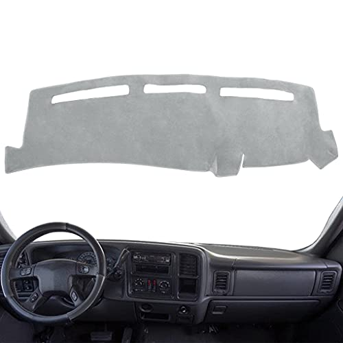 AKMOTOR Dash Cover Dashboard Cover Mat Fit for Chevy Chevrolet Avalanche 2002-2006,GMC Sierra 1999-2006,Chevy Silverado 1999-2006 (Gray) Y55