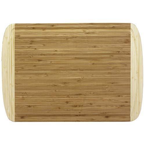 Totally Bamboo BA201250 Planche à découper avec rigole Bicolore en bambou 45 x 32 cm
