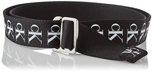 Calvin Klein Jeans SLIDER TAPE BELT 30MM Cinturón, Negro (, 90 para Mujer