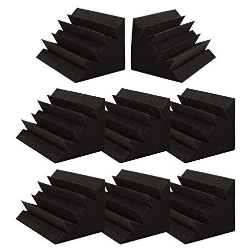 Espuma Acústica, AGPtEK Espuma Acústica para Bajo, Paneles Acústicos de 30 x 17 x 17cm, Ideal para Estudio, Teatro en Casa y Cuarto de Grabación, 8pcs