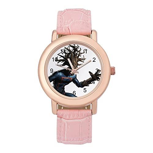 クラシック ファッション薄型軽量 ウォッチ レディース 腕時計 文字盤 革 バンド かわいい クオーツ腕時計 年齢制限なし防水 耐久性 ロケット ラクーングルート1