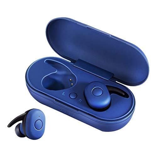 Ohrhorer in Ear,Ohrhorer Sport,Funk-Kopfhörer,Ear Ohrhörer Kabellos,Bluetooth 5.0 Headset TWS Drahtlose Kopfhörer Mini-Ohrhörer Stereo-Kopfhörer (Blau)