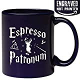 Engraved Ceramic Coffee Mug - Espresso Patronum - 11 fl.oz - Inspirational and sarcasm - Engraved in the USA