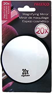 Swissco Suction Cup Mirror 20x Magnification, 3 1/2 inches, May and Vary
