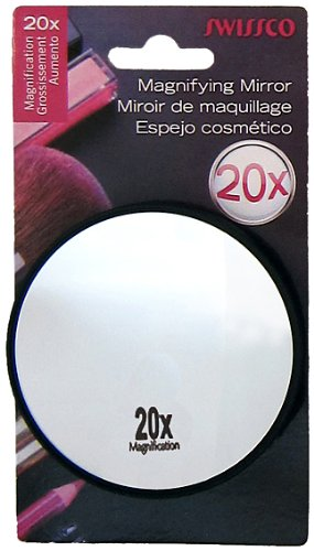 Swissco 20x Magnifying Mirror W. 2 Suction Cups, 1 Ea, 1count